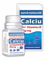 Calciu 250 mg cu Vitamina D