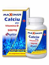 Calciu 500 mg cu Vitamina D Maximus STOC 0
