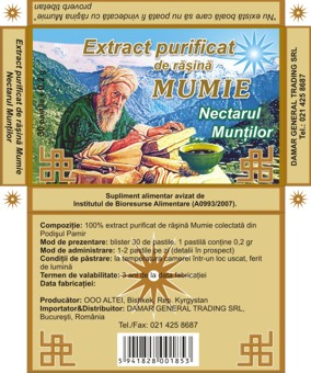 Extract Purificat de Mumie - Nectarul Muntilor