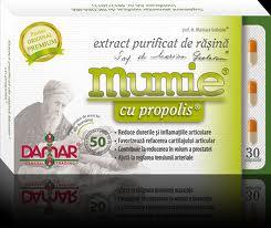 Extract Purificat de Rasina Mumie cu Propolis x 30 cps