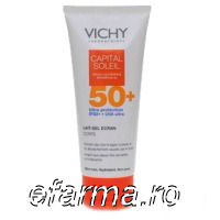 Vichy Capital Soleil- Lapte protectie copii pt. fata si corp IP 50+