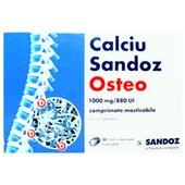 Calciu Osteo 1000mg/880 U.I. x 30 cpr masticabile