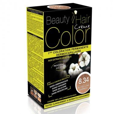 Beauty Hair Creme COLOR 8.34 blond deschis luminos