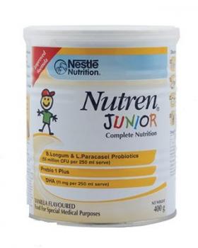 Nestle Nutren Junior 1-10 ani cu vanilie x 400 gr
