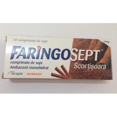 Faringosept Scortisoara 10 mg x 10 cpr de supt