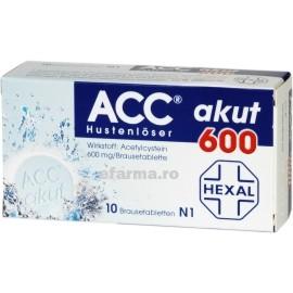 ACC 600 cu Vitamina C x 10 efervescente