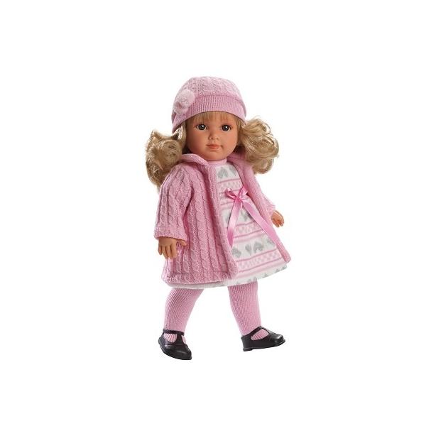 Papusa Elena cu hainuta roz, 35 cm