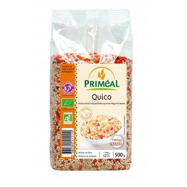 Quico bio (quinoa, linte coral, morcov desh.) 500 g