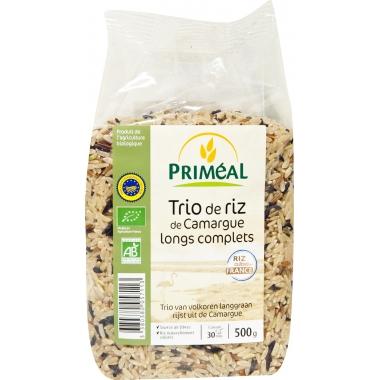 Trio de orez Camargue bio (integral, cu bob lung) 500 g