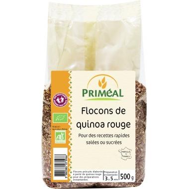 Fulgi de quinoa rosie bio 500g