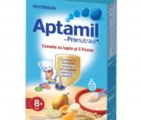 Aptamil Cereale cu lapte și 5 fructe x 225 gr,Nutricia