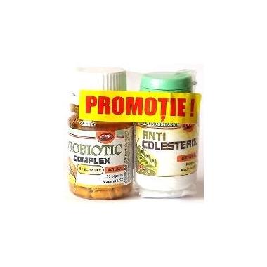Probiotice 30 cps + Anticolesterol 10 cps,Kosmo