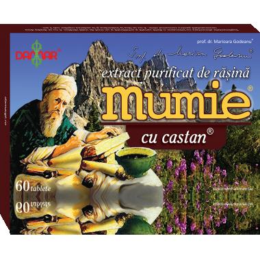 Mumie extract rasina+castan x 60 cpr, Damar