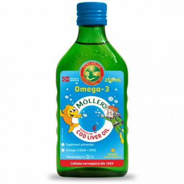 Moller's Omega 3 ulei ficat de cod 250 ml Tutti Frutti, Pharma Brands