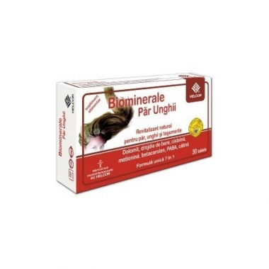 Biominerale par si unghii x 30 tablete, Helcor