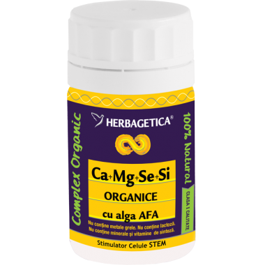 Ca+Mg+Se+Si organice +alga Afa 30cps