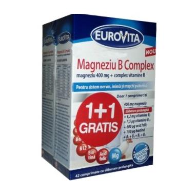 Eurovita Magneziu B complex x 42 cpr 1+1 oferta