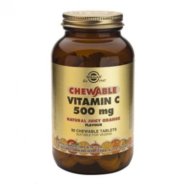 Vitamin C 500mg chewable tabs 90s (orange)