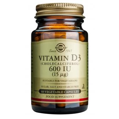 Vitamin D3 600IU veg. caps 60s