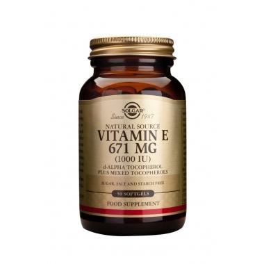 Vitamin E 1000IU softgels 50s