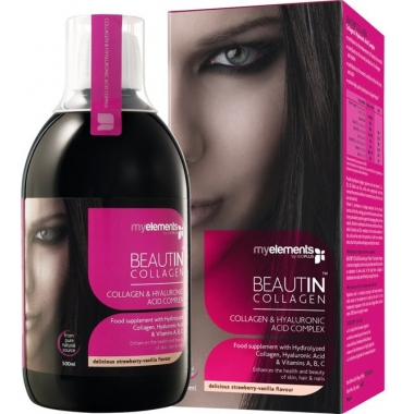 Beautin Collagen str/van liquid 500ml (capsuni-vanilie)