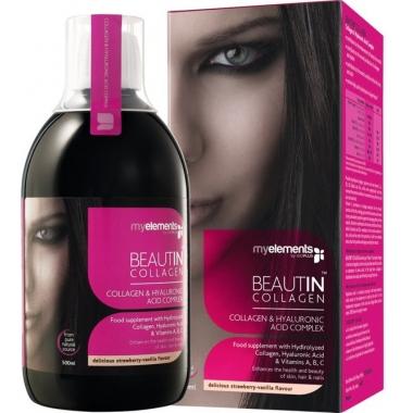 Beautin Collagen str/van liquid 500ml (mango-pepene)