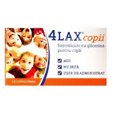 4Lax copii supozitoare cu glicerina x 10