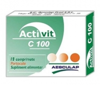 Activit C 100mg portocale x 18cpr