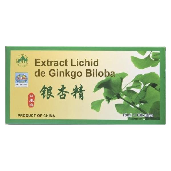 Extract lichid de ginkgobiloba 10ml 10 fiole