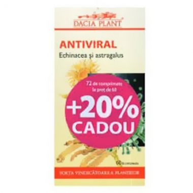 Antiviral echinacea & astragalus 72cpr -20% GRATIS