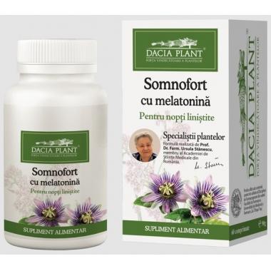 Somnofort cu Melatonina 72cpr -20% GRATIS