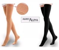 Ciorapi peste genunchi lungi M - AL6003 negru