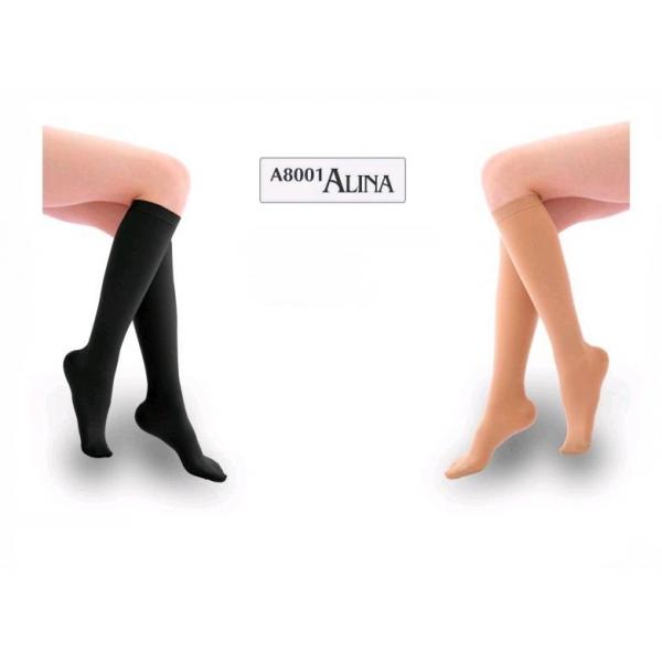 Ciorapi sub genunchi lungi bej XXL AL-8001