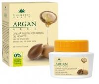 Crema restructuranta de noapte cu ulei de argan si aloe (Bio) 50ml