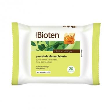 Bioten Servetele demachiante ten normal/mixt 20buc