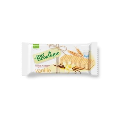 Napolitane cu crema vanile (bio) 40 gr