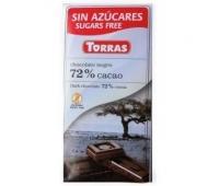 Ciocolata cu 72% cacao 75g