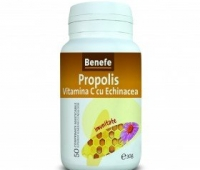 Propolis Vitamina C + Echinaceea 50cpr