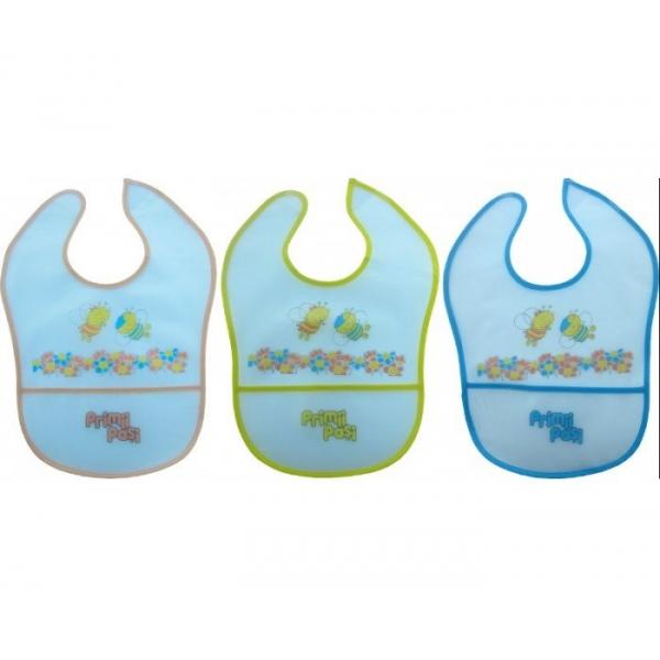 Baveta plastic cu buzunar 4 luni+ (R0551)