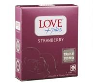 Prezervative Love Plus Strawberry 3buc