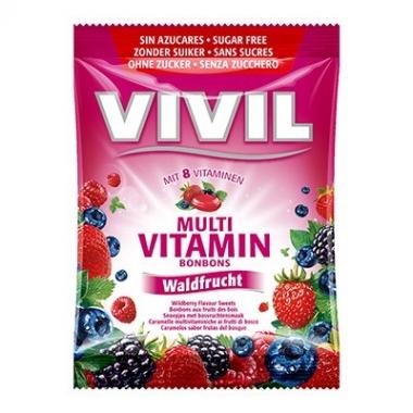 Vivil Multivitamine fructe de padure fara zahar 60g