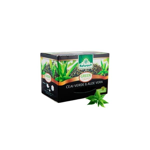 Naturavit ceai verde cu aloe vera 15dz x 1,5g