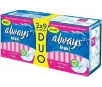 Always Duo Maxi Super Plus 9x2buc