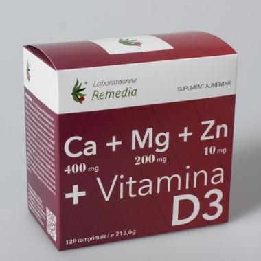 Ca+Mg+Zn+Vitamina D3 120cpr