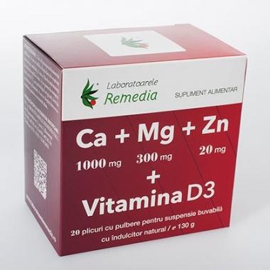 Ca+Mg+Zn+Vitamina D3 20dz