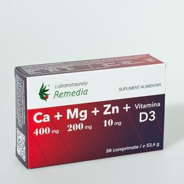 Ca+Mg+Zn+Vitamina D3 30cpr