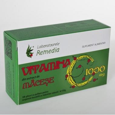 Vitamina C 1000mg - macese 10dz