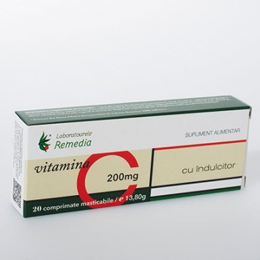 Vitamina C 200mg 20cpr