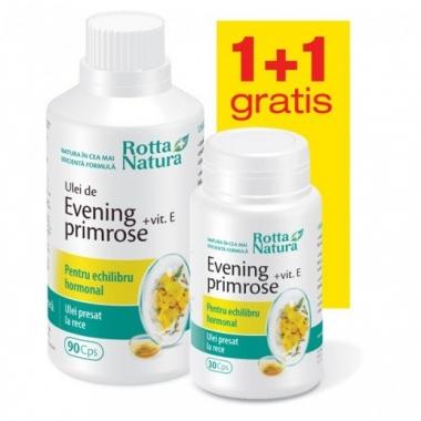Evening Primrose + Vitamina E 90 + 30cps GRATIS