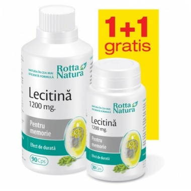 Lecitina 1200mg 90cps + 30cps GRATIS